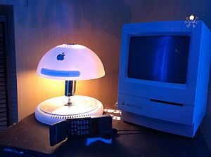 An iMac G4 Computer repurposed into a lamp and it looks sooooo cool ;) Wikipedia, the free encyclopedia