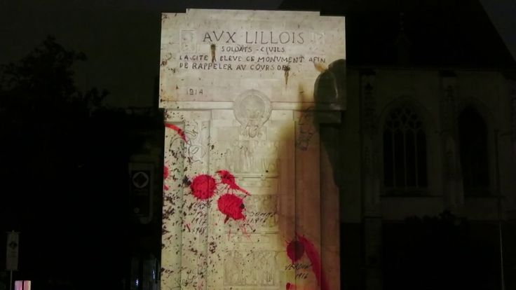Video mapping created for Videomapping Contest Lille 2014 is about I world war also called The Great War. We have shown how France and allied forces had fought against…  #mapping #historical #themed #projection #exterior