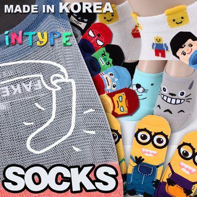 [S$0.68]★Free gift Event[5+1 / 10+2 / 20+4 ]Korean Best selling socks updated! MADE IN KOREA SOCKS WOMEN fashion man men kid kids socks / GIRL / /LOAFER / halloween / invisible Intype socks
