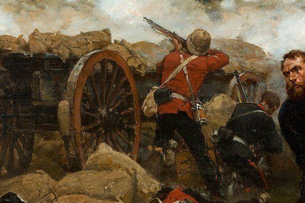 The defense of Rorke's Drift, 1879 by Alphonse de Neuville.