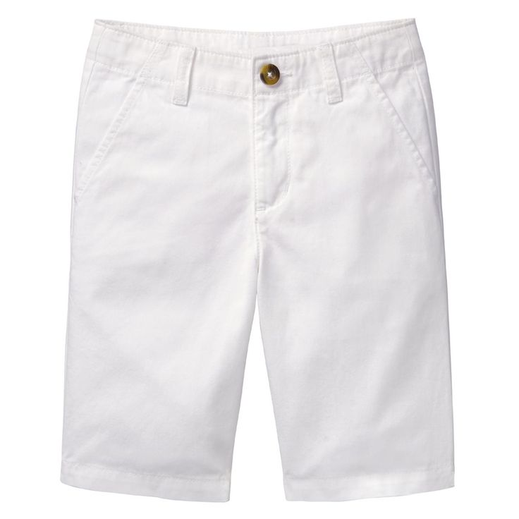 Boy White Chino Shorts by Crazy 8