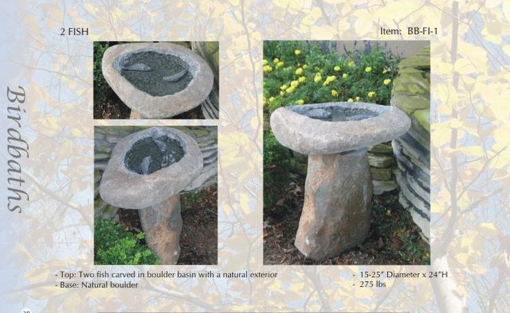 """ATTRACT MORE BIRDS WITH WINTER BIRDBATHS. Water is vital for wild birds all year round.  Cold weather in northern climates brings a special challenge to survival because natural water sources are often frozen.  Providing ice-free water for drinking and feather maintenance can be life-saving for our feathered friends.""""   GRANITE  IS  FOREVER!"""