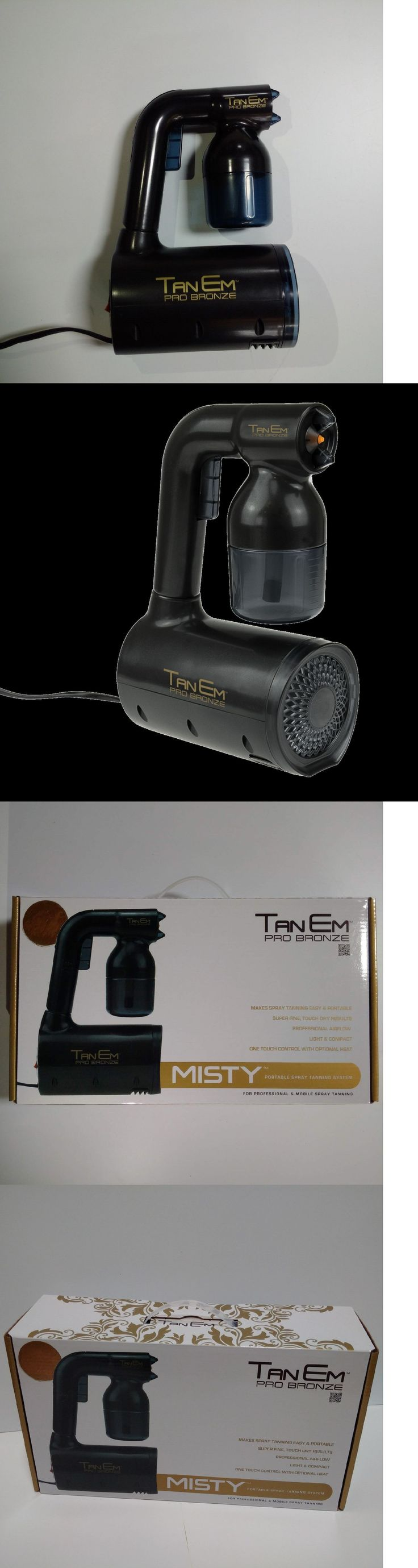 Airbrush Compressors and Guns: Tanem Pro Bronze Misty Portable Tanning Machine Handheld Spray Tan Gun Tanner BUY IT NOW ONLY: $149.95