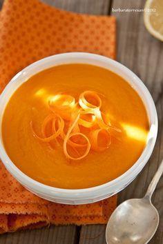 Vellutata di carote, zenzero e limone