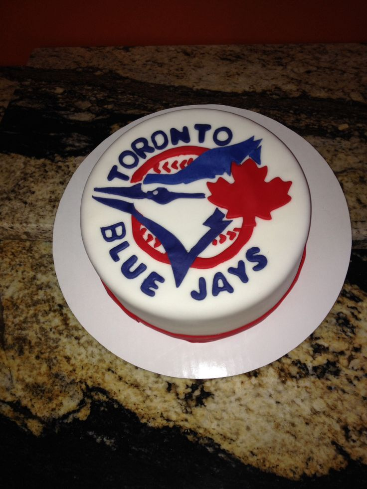 Blue Jays Cake Images : Toronto Blue Jays Logo cake Baby Cakes Creations Pinterest