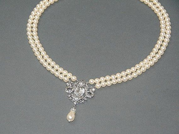 Victorian Style Wedding Pearl Necklace