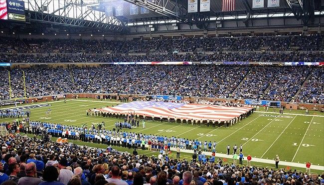 Ford Field Because I want to watch a lions game live at ford field