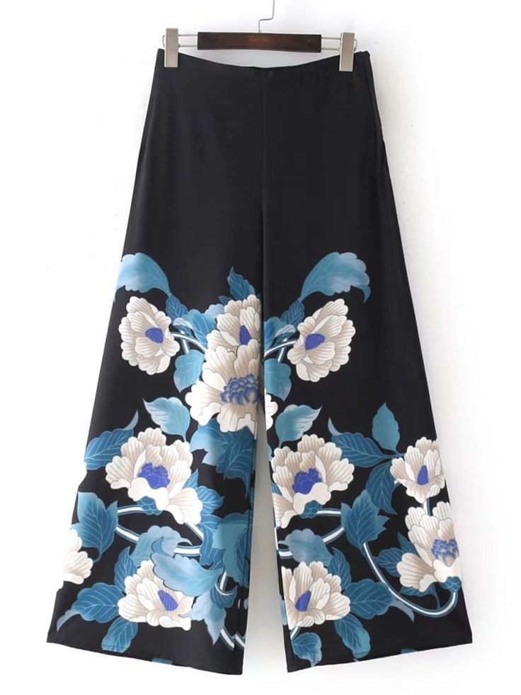 Shop Flower Print Palazzo Pants online. SheIn offers Flower Print Palazzo Pants & more to fit your fashionable needs.