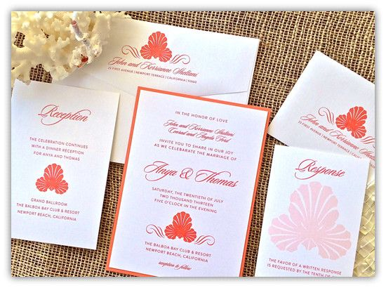 Top 10 Coral Wedding Invitations |
