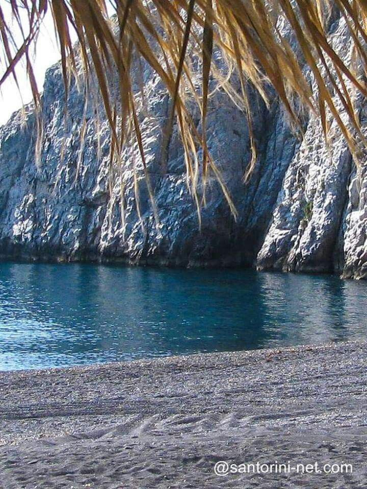 Kamari beach, Santorini island, Greece