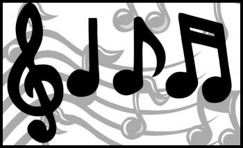 how to draw music notes. (Music note painting lesson?)