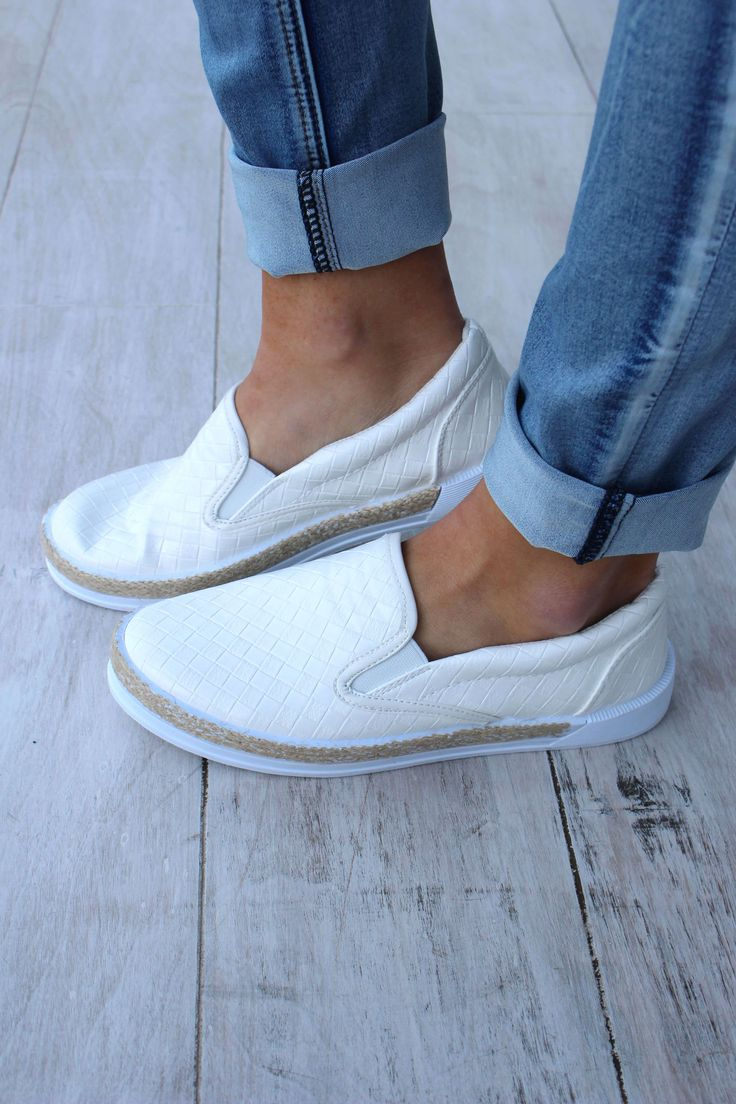 These white slip on sneakers are perfect for whatever you've got planned! Shipping Shipping Information We ship priority mail, which takes roughly 2-3 days to arrive! If you purchase your order prior