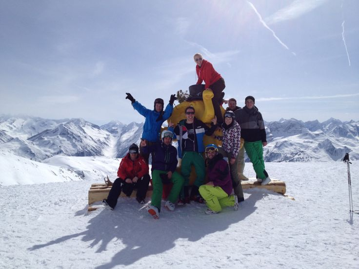 annual team skiing trip