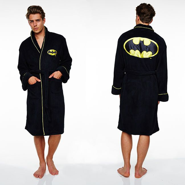 Batman dressing gown FLEECE / bathrobe -Adult size NEW (bath robe gifts for men) in Clothes, Shoes & Accessories, Men's Clothing, Nightwear | eBay