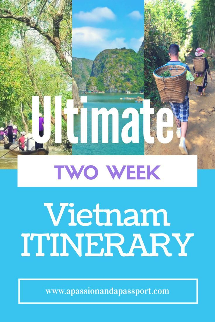 The ULTIMATE 2 WEEK VIETNAM ITINERARY! The absolute best of the country >> lots of things to do, eat, see, etc plus local travel tips. Saving this pin for later!