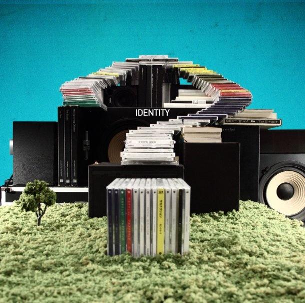 """サカナクション『アイデンティティ』ジャケット Sakanaction """"Identity"""" cover art, designed by kamikene @ hatos. The question mark is built with the band's previously released CDs."""