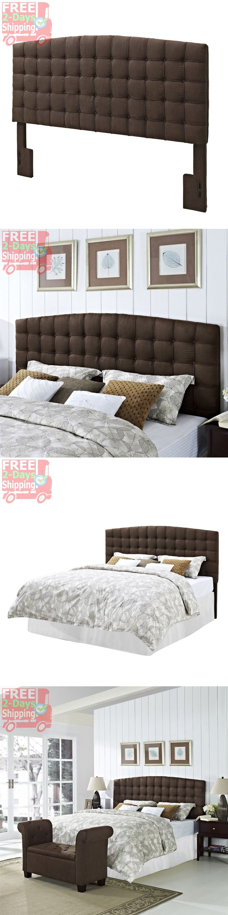 Headboards and Footboards 109064: Upholstered Headboard King Size Button Tufted Bedroom Furniture Microfiber Brown -> BUY IT NOW ONLY: $235.42 on eBay!