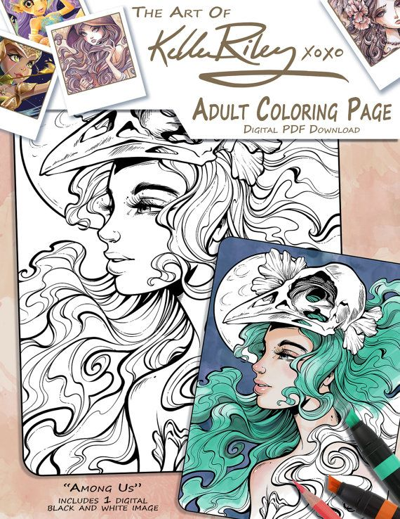 Among Us Adult Coloring Page Coloring pages, Adult