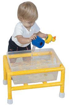 PVC Sensory bin: Sensory Tables, Pvc Pipes Ideas, Sensory Bins, Pvc Pipes Water Tables, Pvc Sensory, Minis Discover, Discover Tables, Kids Fun, Discovery Sensory