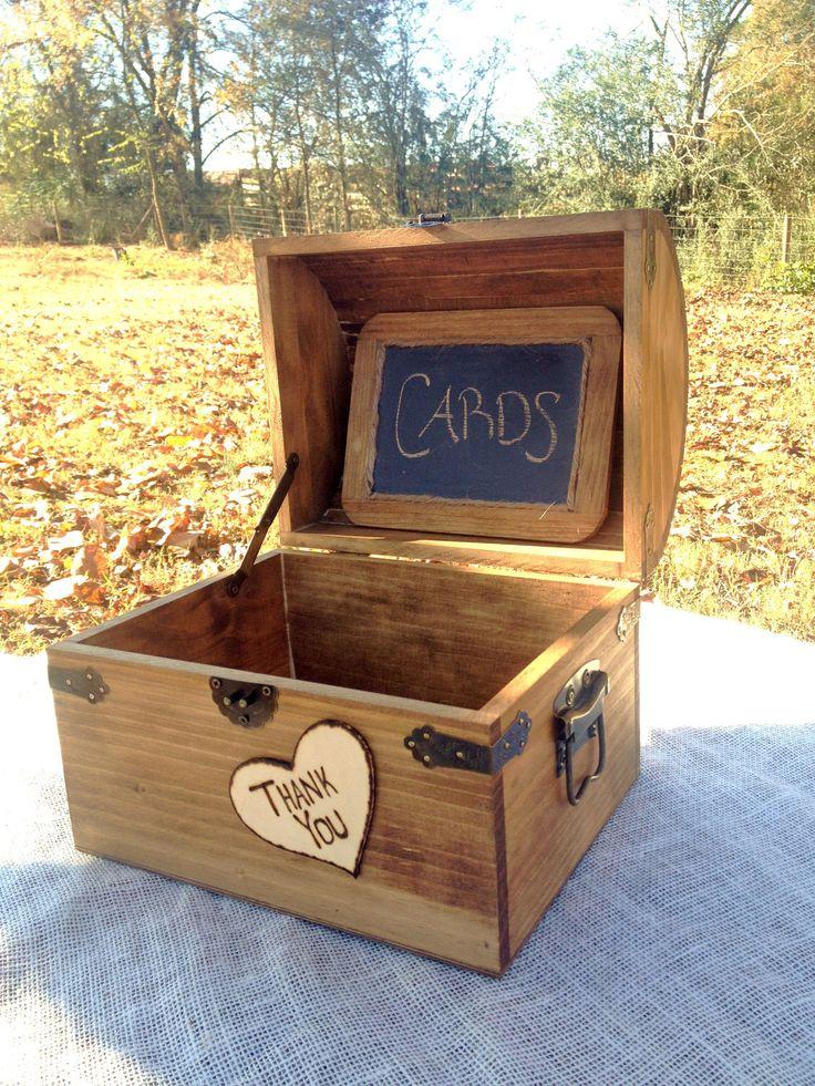 Large Shabby Chic and Rustic Wooden Card Box - Rustic Wedding Decor - Wedding Card Box - Rustic Wedding Card Box - Program Box. $55.00, via Etsy.