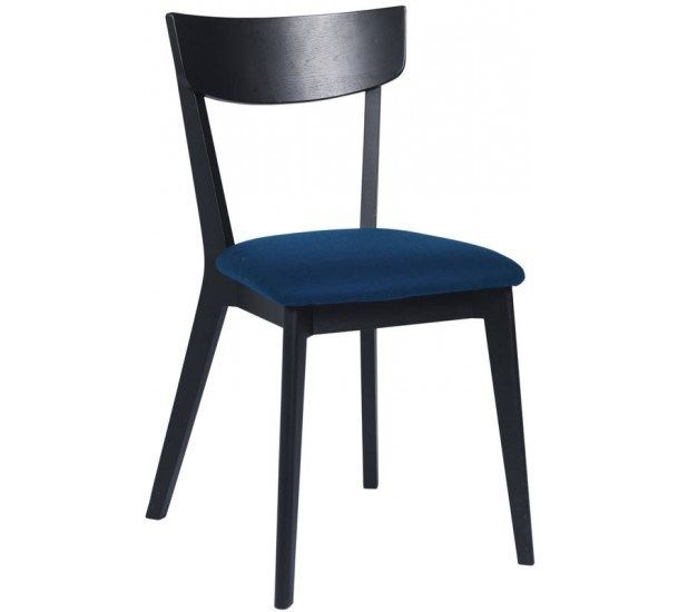 Lima Spisebordsstol - sortbejdset eg - Spisebordsstol i mørk eg