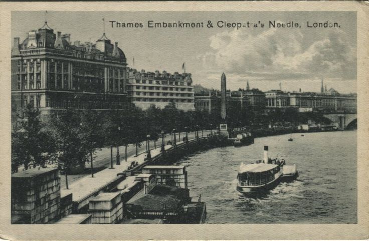 Unknown Publisher Postcard - Thames Embankment & Cleopatra's Needle, London | PC02549