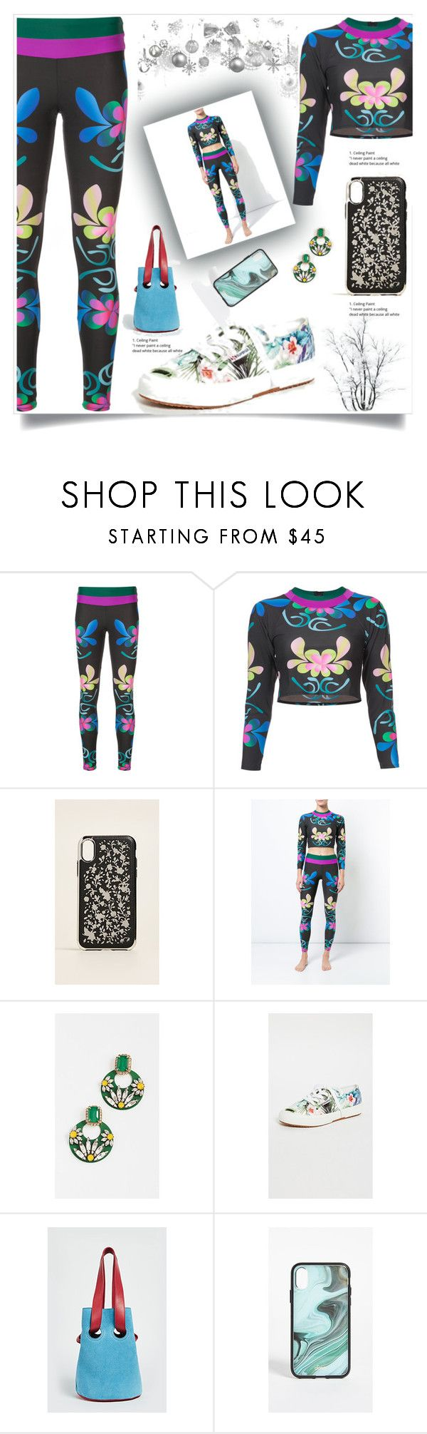 """""""Shock Wave Floral"""" by camry-brynn ❤ liked on Polyvore featuring Cynthia Rowley, Rebecca Minkoff, Elizabeth Cole, Superga, Sonix, floral, floralprint and bottoms"""