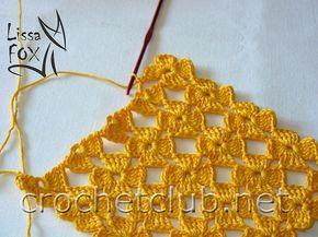 As Receitas de Crochê: Ponto de flores em croche feito direto