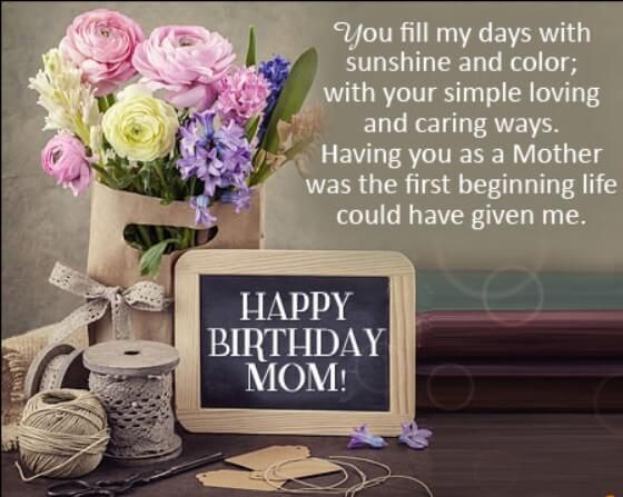 Birthday Quotes For Mom On Her Birthday