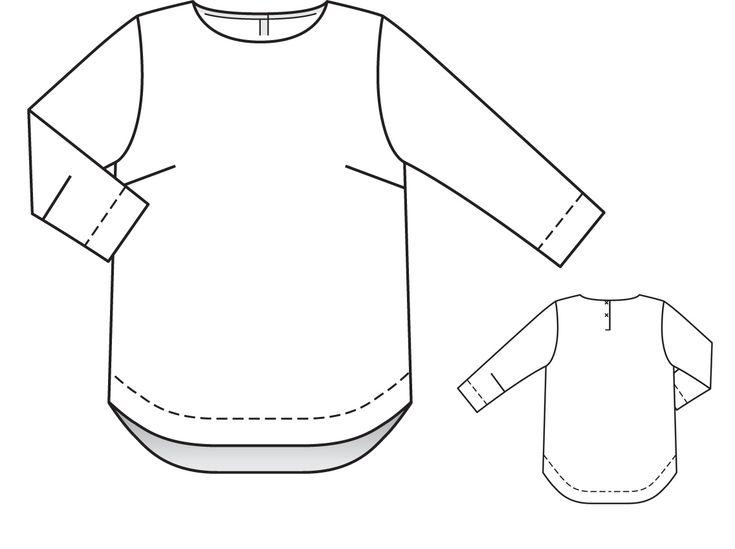 Блуза - выкройка № 141 из журнала 5/2014 Burda – выкройки блузок на Burdastyle.ru
