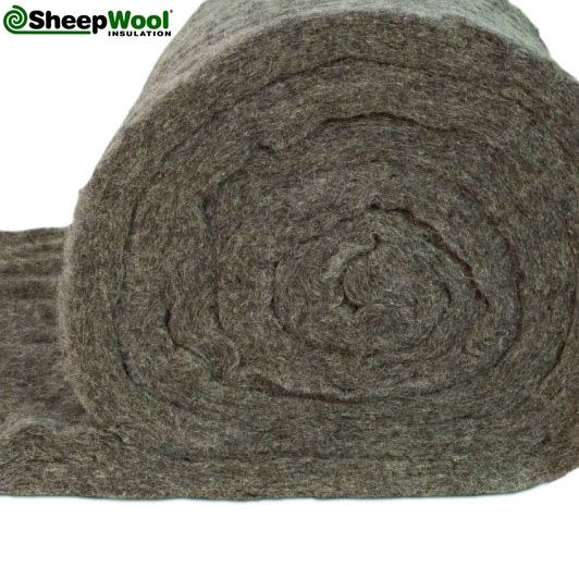 Optimal Sheep Wool Insulation is specially designed for rafter and wall insulation. The felt backing makes it ideal for vertical and sloping instalations