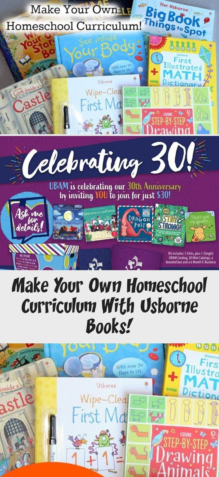 How to make your Own Homeschool Curriculum with Usborne