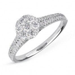 Bijuteria teilor: Inel aur si diamante