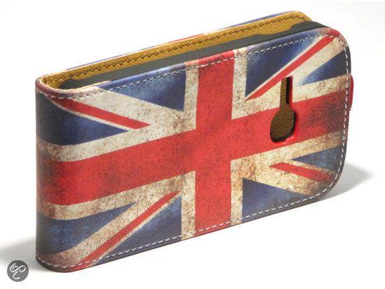 Voor Ravi's Phone ....Samsung Galaxy Young flip case hoesje met retro Engelse / Britse vlag. Voor Galaxy Young S6310