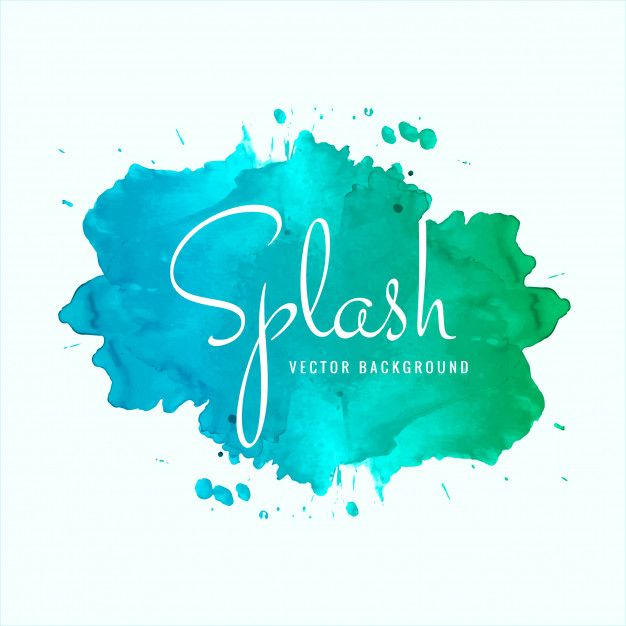 Download Beautiful Watercolor Splash Design Vector For Free In