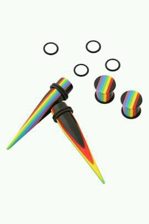 Rainbow tapers and plugs
