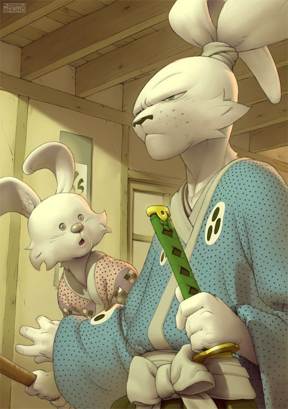 Usagi Yojimbo by Gray Shuko Such amazing talent here..!