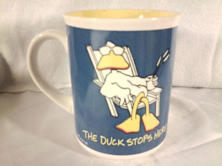 The Duck Stops Here Ducktales 1986 John Baron Enesco Imports Cup