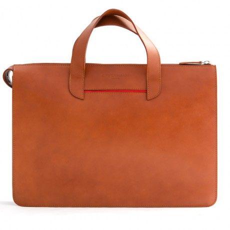 Oppermann London Vallance Black Leather Briefcase