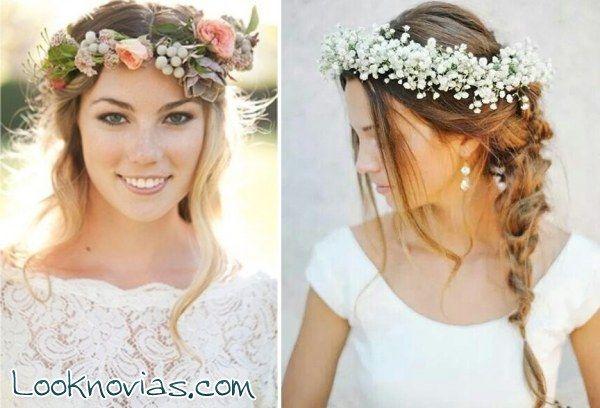 corona de flores novia - Cerca amb Google