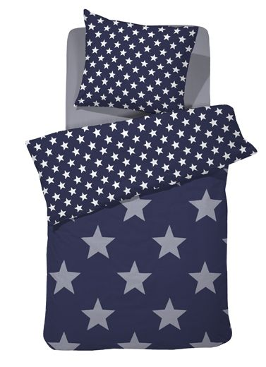Dekbedovertrek Starville Blue #kinderkamer #beddengoed | Blue duvet cover #kidsroom