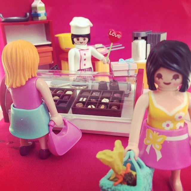 #playmobil #rement #valentine'sday #chocolate #プレイモービル #リーメント #バレンタイン #チョコレート #love Chocolate shop. I love chocolate !!