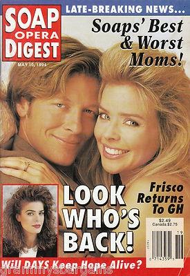 Soap Opera Digest May 10 1994 Marcy Walker Kassie Mesley Geoffrey Ewing #soaps #soapoperadigest on ebay www.grammysbargains.com