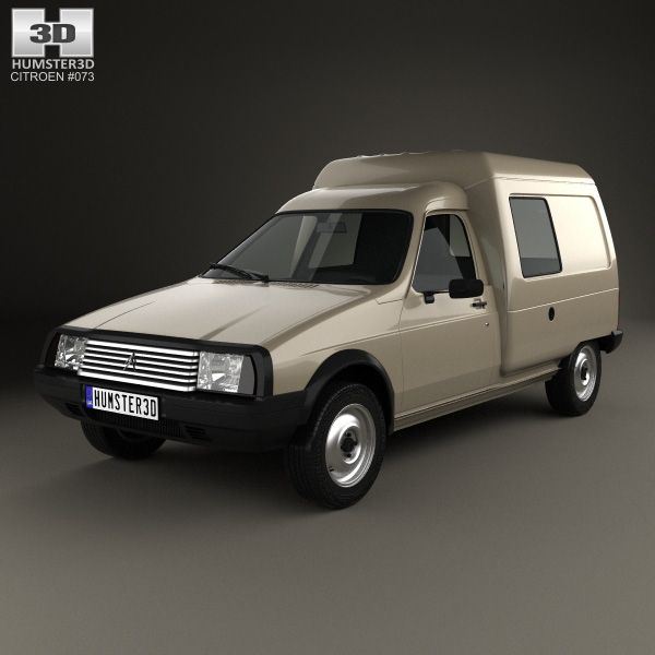 Citroen C15 1984 3d model from Humster3D.com.