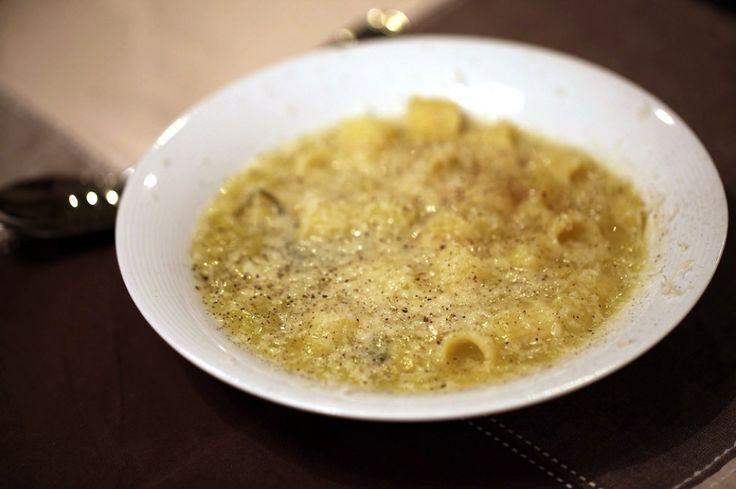 Patate, porri e basilico con tubetti