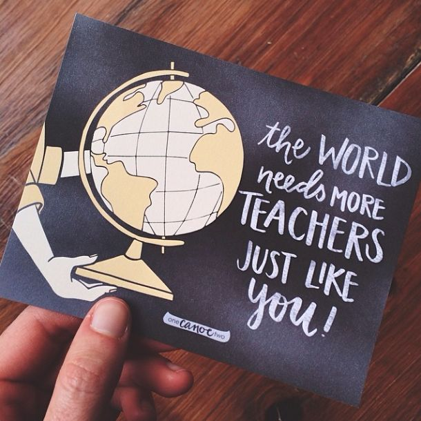The Teacher | Just in time for Teacher Appreciation Week, thank your child's teacher for everything he/she has done with this FREE hand-illustrated card. Hashtag with #worldgoroundproject so we can follow the thanks