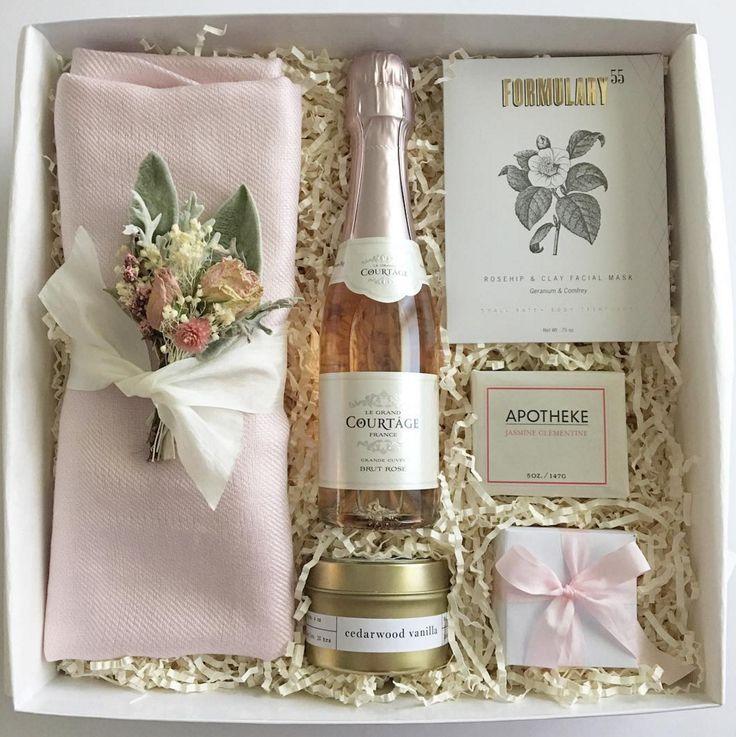 Bridesmaid Gift Box or Bridesmaid Proposal. Blush and Gold Wedding Colors.