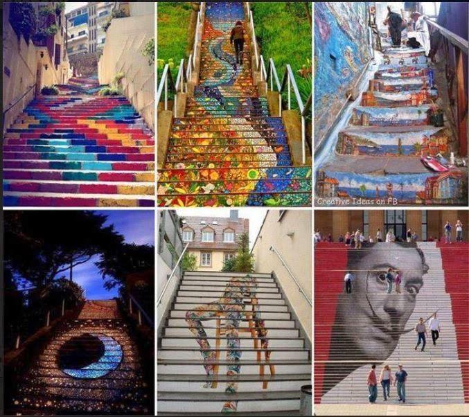 NSM - Non solo Musica : Street Art - Le scale