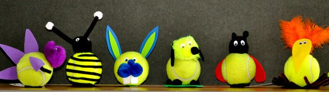 tennis ball craft