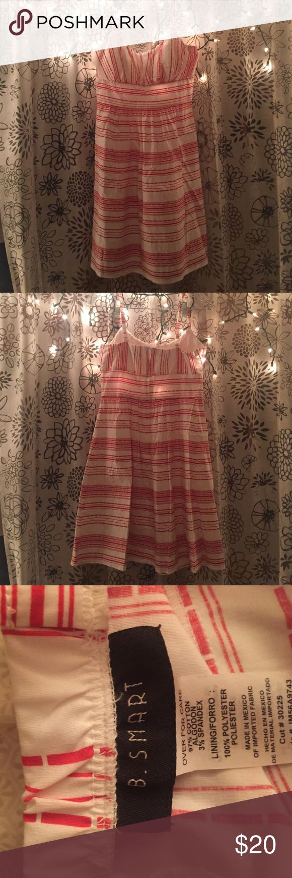 White/orange striped dress Size small white and orange striped dress. Never worn. B. Smart Dresses Midi